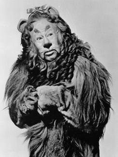 Bert Lahr as the Cowardly Lion for the 1939 film.