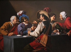 Playing Cards, by Theodoor Rombouts, 17th century