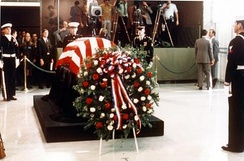 Wreath by Truman's casket, December 27, 1972