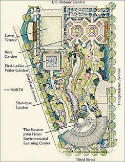 Map of the National Garden