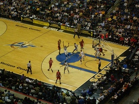 The Wizards in a home game against the Toronto Raptors, March 30, 2007.