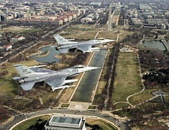 121st Fighter Squadron F-16s over Washington DC