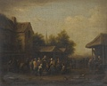 A Fish Market in a Village Square by Barent Gael, n.d. (late 17th century)