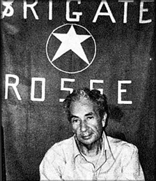 Aldo Moro, photographed during his kidnapping by the Red Brigades in 1978.