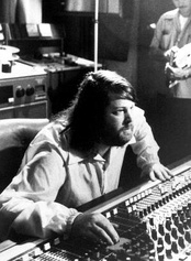 Brian Wilson in the studio, 1976