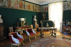 Château de Malmaison, 1800, room for the Empress Joséphine, on the cusp between Directoire style and Empire style