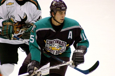 Joffrey Lupul playing for the Cincinnati Mighty Ducks in 2004.