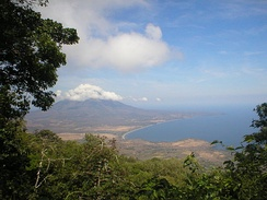 Nicaragua is known as the land of lakes and volcanoes; pictured is Concepción volcano, as seen from Maderas volcano.