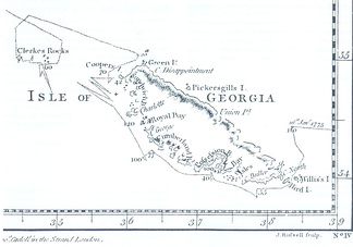 James Cook's 1777 South-Up map of South Georgia, which he named after King George III