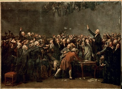 The Tennis Court Oath (June 20, 1789), by Couder