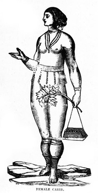 Drawing of a Carib woman (1888)