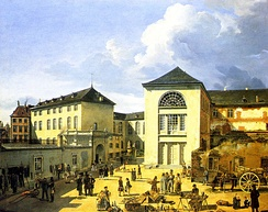 "The old ""Academie of Düsseldorf"", Andreas Achenbach, 1831"