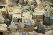 A Dogon village in Mali, with walls made in the wattle and daub method