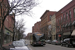 Market Street in Corning's Gaffer District.
