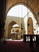 The courtyard of the Sultan Hassan mosque-madrasa.
