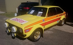 Bond placed second in the 1980 Australian Rally Championship driving this Ford Escort RS1800