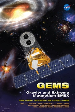 Mission poster for the GEMS telescope
