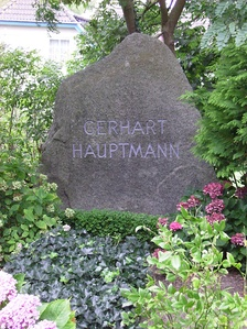 Hauptmann's grave in Hiddensee, Germany