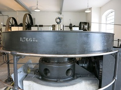 Historic Ottenbach Small Hydro with original equipment of 1920 in Ottenbach, Switzerland, still running for guided visits