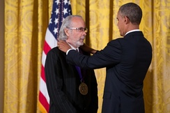 Alpert being awarded the National Medal of Arts by President Obama in 2013
