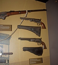 The guns in Booth's possession when he was captured, Ford's Theatre National Historic Site (2011)