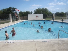 Municipal swimming pool in Junction