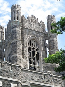 Keating Hall tower, Rose Hill