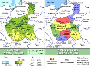 Kingdom of Poland, 1815-1830.