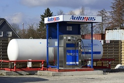 Unmanned LPG-only station in Germany, payment per girocard