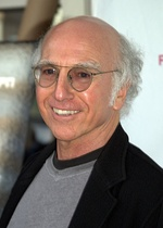Creator Larry David (left) stars as a fictional version of himself; he also writes the story outline for each episode. Cheryl Hines (right) portrays Larry's fictional wife.