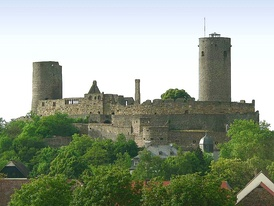 The imperial castle of Münzenberg, Hesse, Germany