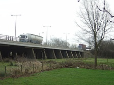 M1 Motorway viaduct over the River Nene just south of junction 16