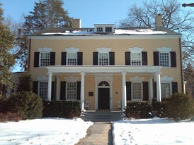 The President's House in Princeton, New Jersey. Completed in 1756, John Witherspoon lived here from 1768 to 1779; it is a U.S. National Historic Landmark.