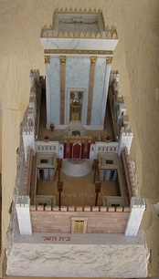 Model of Second Temple made by Michael Osnis from Kedumim.