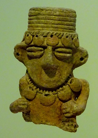 While most tunjos were made of gold or tumbaga, some were small ceramic figurines