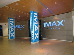 Entrance to the IMAX cinema