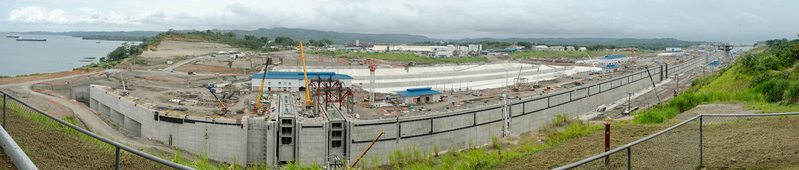 New Panama Canal expansion project. July 2015