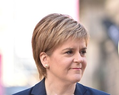Nicola Sturgeon is the fifth First Minister of Scotland and the leader of the Scottish National Party, in office since 2014. She is the first woman to hold either position.