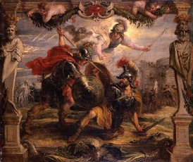 Achilles Slays Hector, by Peter Paul Rubens (1630–35).