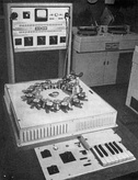 Phonogene (1953), a tape machine for modifying the sound structure, developed by Pierre Schaeffer et al. at GRMC.