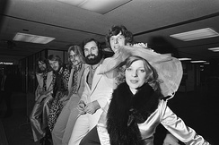 Teach-In leaving from Amsterdam Airport for the Eurovision Song Contest 1975
