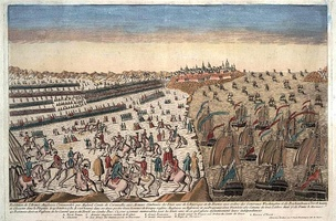 Overview of the capitulation of the British army at Yorktown, with the blockade of the French squadron