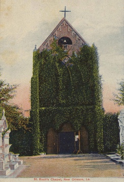 St. Roch Cemetery Chapel (postcard image courtesy of Infrogmation)