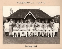 Stafford CC versus the MCC in their Centenary Year 1964