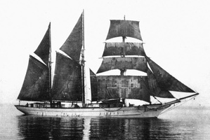 Photo of a three-masted schooner