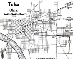 A map of Tulsa in 1920