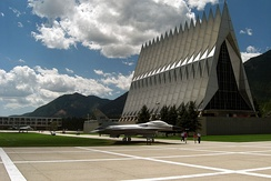The Cadet Chapel at the United States Air Force Academy near Colorado Springs