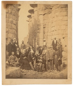 Grant (front row, center) and family at Karnak, January 1878
