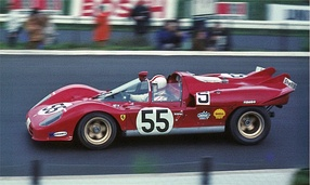 Vaccarella at 1970 1000km Nürburgring with Ferrari 512S.