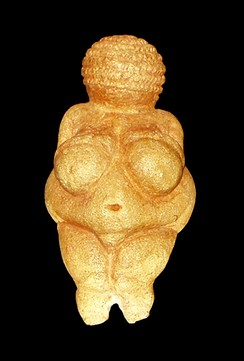 The Venus of Willendorf, a statue thought to have had a religious function for Paleolithic peoples